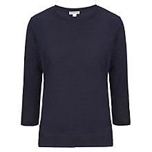 Buy Whistles Linen Lauren Top, Navy Online at johnlewis.com