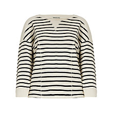 Buy Whistles Becca Stripe Sweatshirt, Ivory Online at johnlewis.com