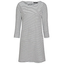Buy Minimum Elin Stripe Dress, Dark Iris Online at johnlewis.com
