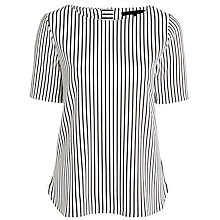 Buy Minimum Justina Stripe Top, White Online at johnlewis.com