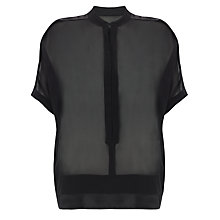 Buy Somerset by Alice Temperley Silk Drop Shoulder Blouse, Black Online at johnlewis.com