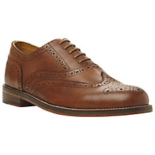 Buy Bertie Braxton Leather Brogue Oxford Shoes, Tan Online at johnlewis.com