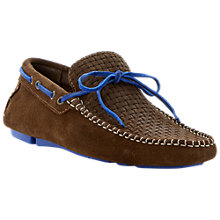 Buy Bertie Benzel Suede Driving Shoes, Brown Online at johnlewis.com