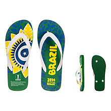 Buy FIFA World Cup 2014 Brazil Men's Flip Flops Online at johnlewis.com