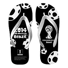 Buy FIFA World Cup 2014 Men's Flip Flops, Black/White Online at johnlewis.com