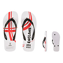 Buy FIFA World Cup 2014 England Men's Flip Flops Online at johnlewis.com