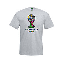 Buy FIFA World Cup 2014 Britto Trophy T-Shirt Online at johnlewis.com