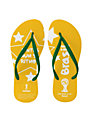 FIFA World Cup 2014 Brazil Women's Flip Flops, Yellow/Green