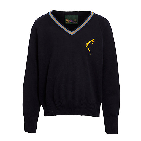 Buy Thomson House School V-Neck Jumper, Navy Online at johnlewis.com