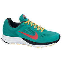 Buy Nike Zoom Structure+ 17 Men's Running Shoes, Tribe Green & Light Crimson Online at johnlewis.com