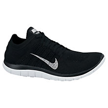 Buy Nike Free 4.0 Flyknit Running Trainers, Black Online at johnlewis.com