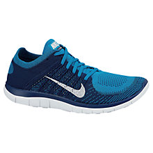 Buy Nike Free 4.0 Flyknit Running Trainers, Turquoise Online at johnlewis.com