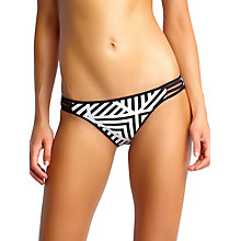 Buy Seafolly Pop Hipster Bikini Bottoms, Black Online at johnlewis.com