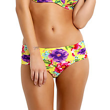 Buy Seafolly Paradiso Ruched Side Retro Bikini Briefs, Multi Online at johnlewis.com