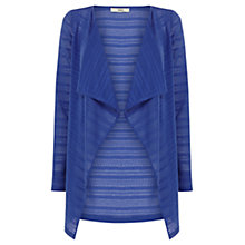 Buy Oasis Drape Cardigan, Rich Blue Online at johnlewis.com