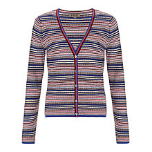 Buy Jigsaw Mini Striped Cardigan, Navy Online at johnlewis.com