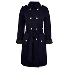 Buy Oasis Navy Naomi Mac, Navy Online at johnlewis.com