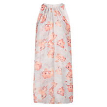Buy Mango Floral Strap Dress, Light Pastel Pink Online at johnlewis.com