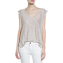 Buy Mango Linen T-Shirt Online at johnlewis.com