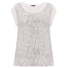 Buy Jigsaw Waterstitch Silk Top, White Online at johnlewis.com