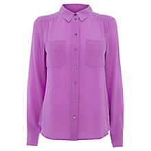 Buy Wishbone Connie Silk Shirt, Lavender Online at johnlewis.com
