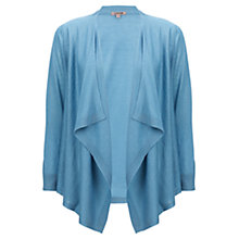 Buy Jigsaw Cashmere/Silk Blend Tie Drop Cardigan, Aqua Online at johnlewis.com