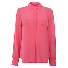 Buy Wishbone Silk Shirt, Pink Online at johnlewis.com
