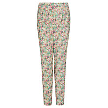 Buy Mango Floral Print Trousers, Dark Green Online at johnlewis.com