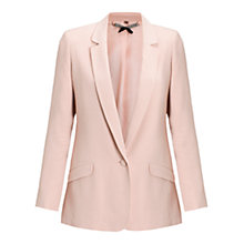 Buy Jigsaw Lux Tailored Boyfriend Jacket, Pink Online at johnlewis.com