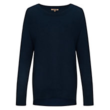 Buy Jigsaw Slouchy Jumper, Navy Online at johnlewis.com