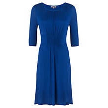 Buy Jigsaw Gathered Front Three-Quarter Sleeve Dress, Royal Blue Online at johnlewis.com