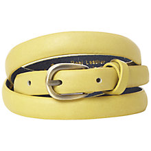 Buy White Stuff Cross Keeper Skinny Belt, Chartreuse Online at johnlewis.com