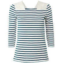 Buy White Stuff Munchie Stripe Top, Jewelled Jade Online at johnlewis.com