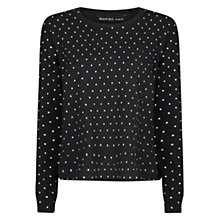 Buy Mango Polka Dot Print Jumper, Black Online at johnlewis.com