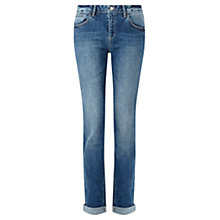 Buy Jigsaw Hampton Fit Mid Wash Boyfriend Jeans, Washed Blue Online at johnlewis.com