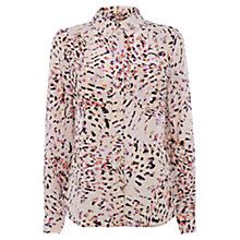 Buy Wishbone Connie Silk Shirt, Nude Watermark Animal Online at johnlewis.com