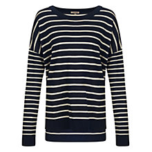 Buy Jigsaw Striped Slouchy Jumper, Navy Online at johnlewis.com
