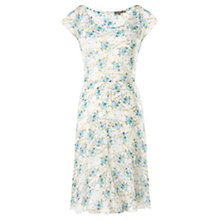 Buy Jigsaw Silk Garden Print Dress, Multi Online at johnlewis.com