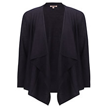 Buy Jigsaw Draped Cardigan, Navy Online at johnlewis.com