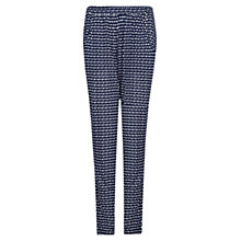Buy Mango Printed Flowy Trousers, Navy Online at johnlewis.com