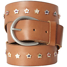 Buy White Stuff Star Button Belt, Tan Online at johnlewis.com