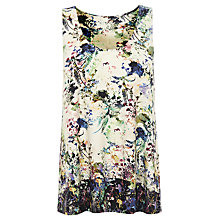 Buy Warehouse Border Floral Print Vest, Multi Online at johnlewis.com