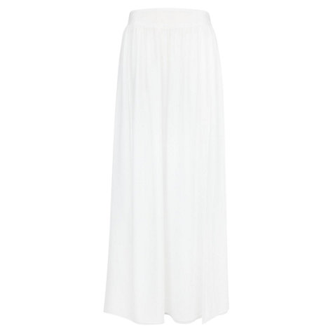 Buy Mango Side Split Maxi Skirt, Natural White Online at johnlewis.com