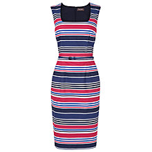 Buy Phase Eight Stripe Dress, Navy/Raspberry Online at johnlewis.com