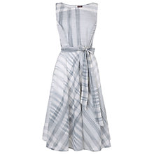 Buy Phase Eight Renee Check Fit And Flare Dress, Charcoal/White Online at johnlewis.com