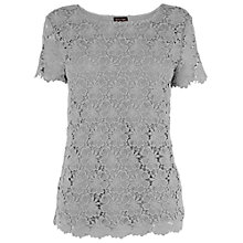 Buy Phase Eight Maeve Crochet Lace Top, Platinum Online at johnlewis.com