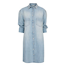 Buy Mango Denim Shirt Dress, Medium Blue Online at johnlewis.com
