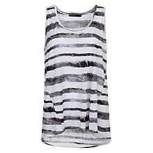 Buy Mango Tie-Dye Striped Vest Top, Natural White Online at johnlewis.com