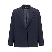 Buy Jigsaw Audrey Cropped Jacket, Navy Online at johnlewis.com