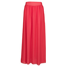 Buy Mango Cut-Out Long Skirt, Medium Red Online at johnlewis.com